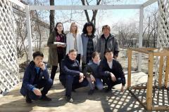 группа волонтеров 7Д вместе со своим классным руководителем Абрамовой Еленой Михайловной