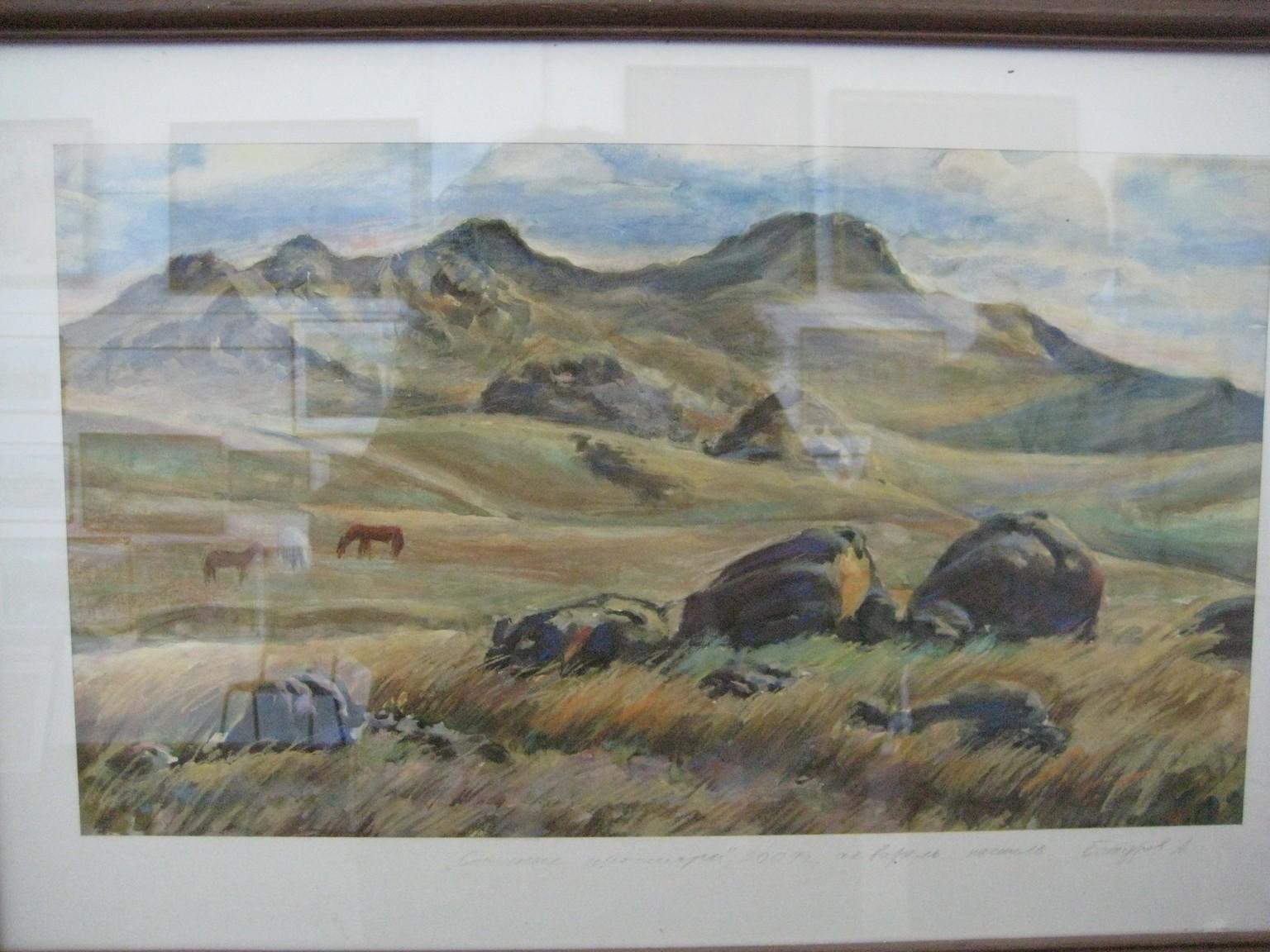 Тугнуйская долина Бумага аквар пастель 33х56 6000 руб