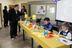 Акция в научном центре - дети дарят журавлики
