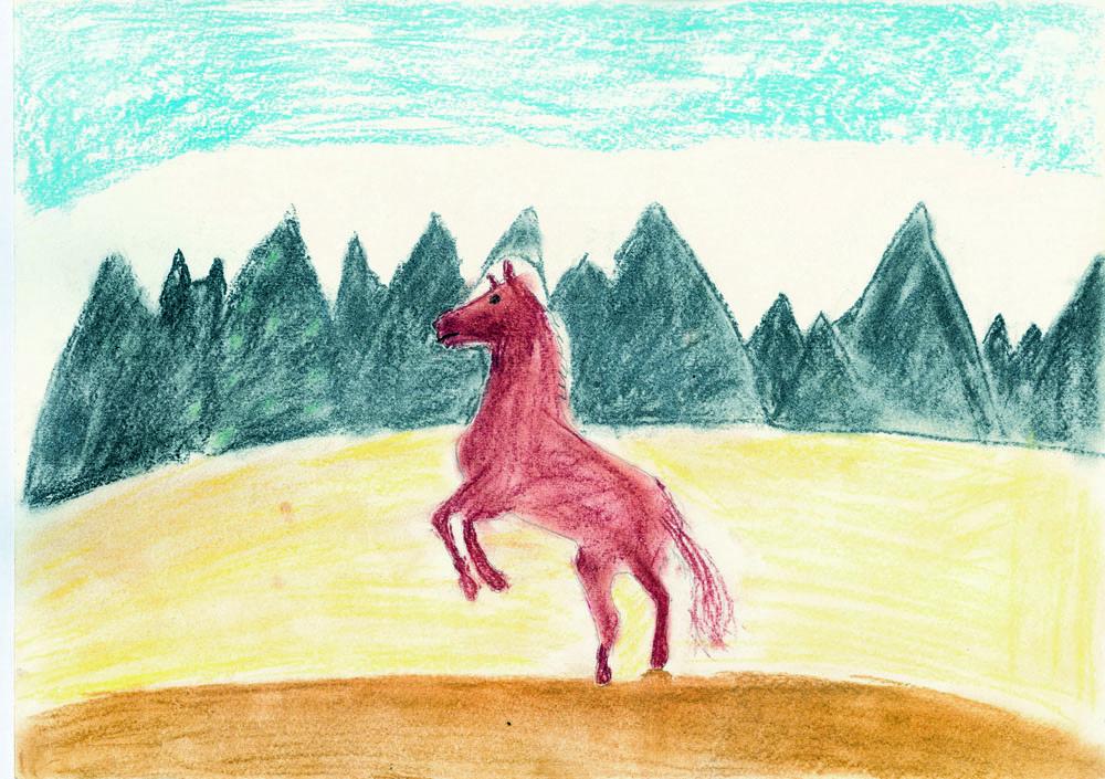 Лошадь на дыбах